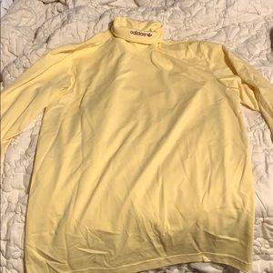 Men's yellow Adidas turtleneck. Size medium.